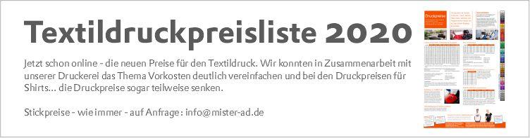 Slider 2 - Textildruckpreisliste 2020
