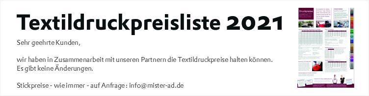 Slider 2 - Textildruckpreisliste 2021